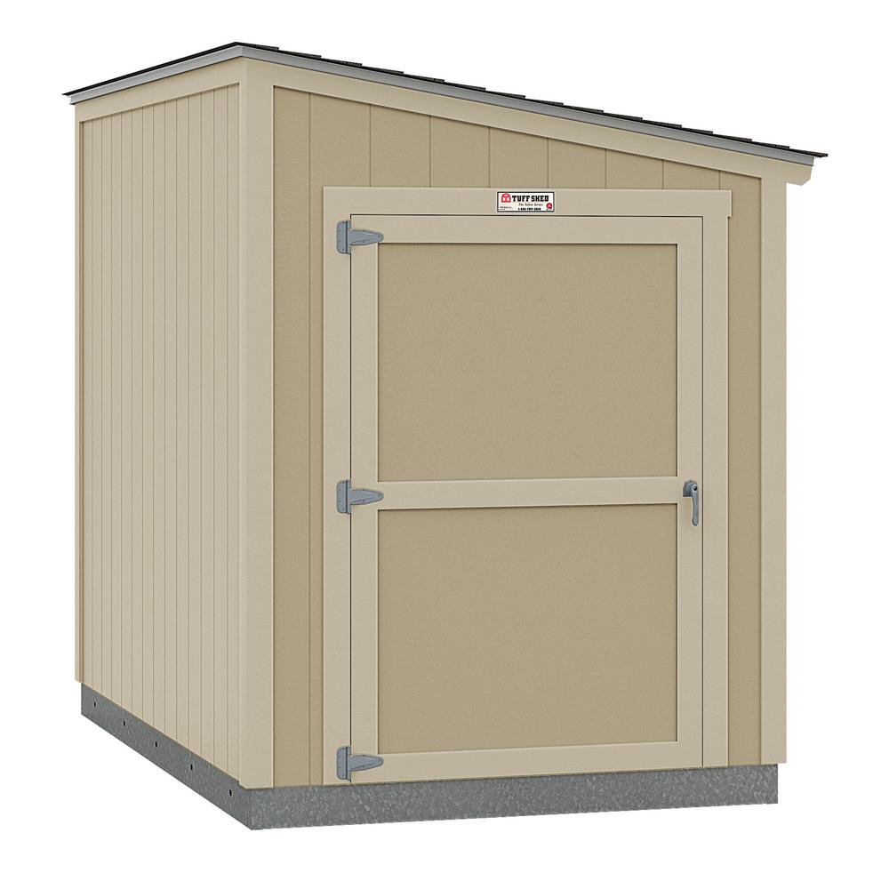 Tuff Shed Installed The Tahoe Series Lean-To 6 ft. x 10 ft. x 8 ft. 3 in. Un-Painted Wood Storage Building Shed, Browns / Tans -  6x10 L2 E1 NP