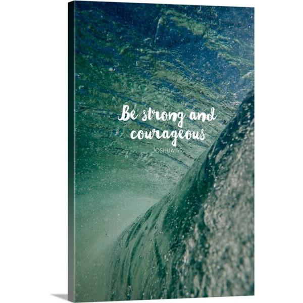 GreatBigCanvas ''Be Strong And Courageous - Scripture'' by Inner Circle Canvas