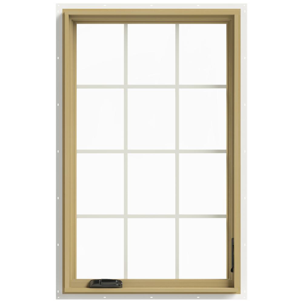 30 in. x 48 in. W-2500 Right Hand Casement Aluminum Clad Wood Window