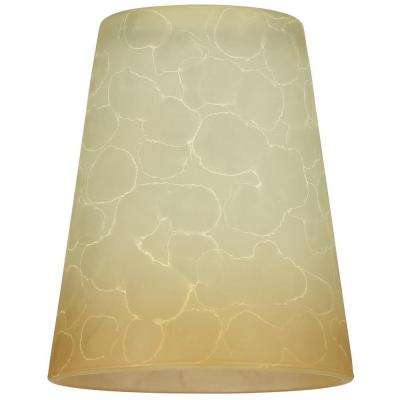 5-5/8 in. Smoldering Scavo Cone Shade with 2-1/4 in. Fitter and 4-3/4 in. Width