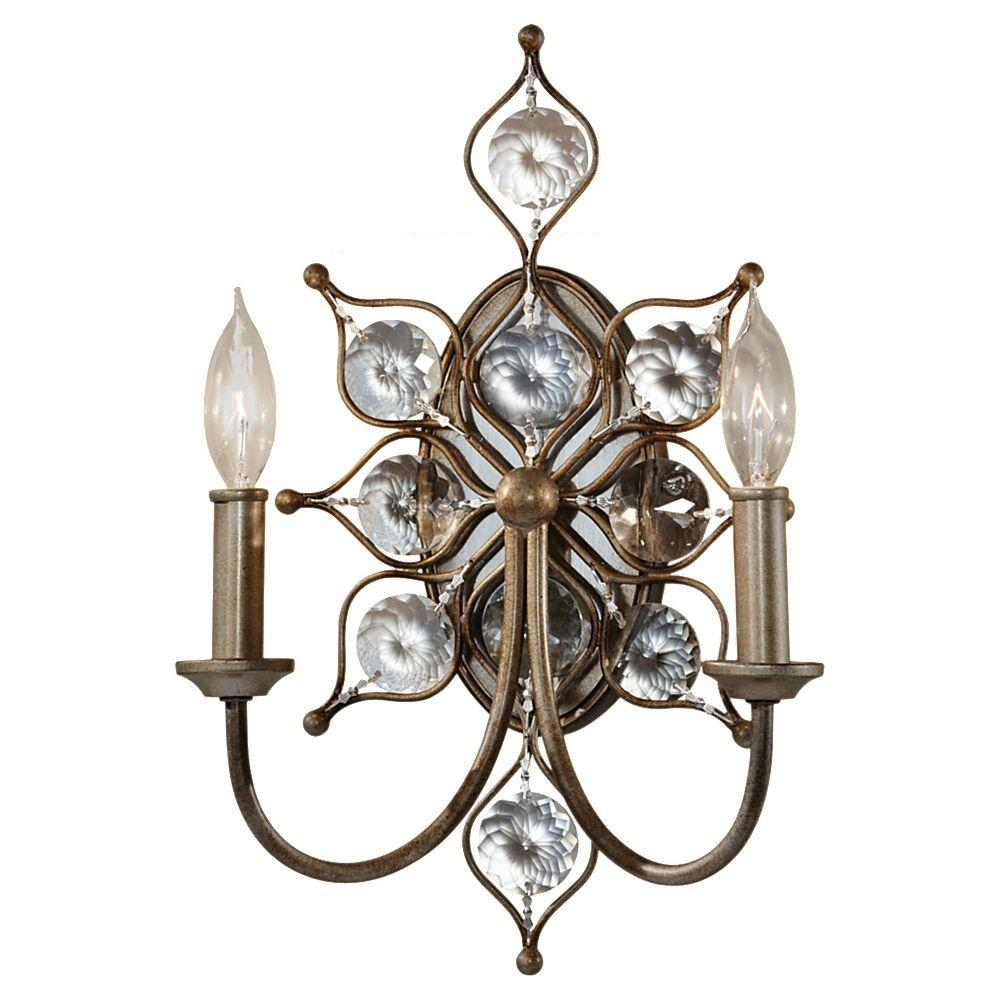 Leila 2-Light Burnished Silver Wall Sconce