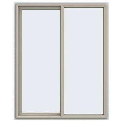 47.5 in. x 59.5 in. V-4500 Series Left-Hand Sliding Vinyl Windows - Tan