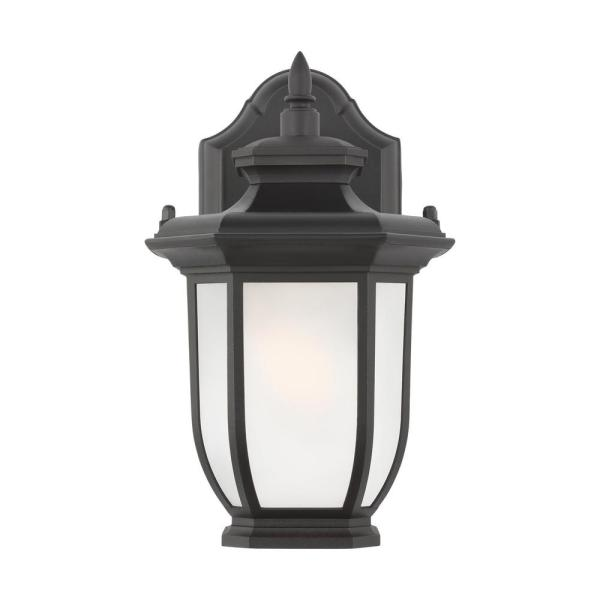Childress 1-Light Black Outdoor Wall Lantern