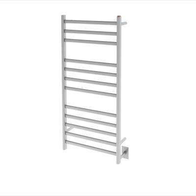 Prima Dual XL12-Bar Hardwired and Plug-in Electric Towel Warmer in Brushed Stainless Steel