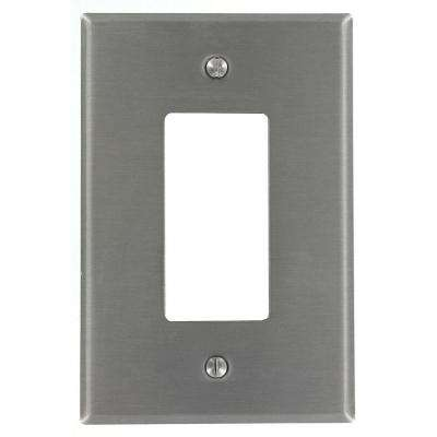 1-Gang Decora Oversized Wall Plate, Stainless Steel