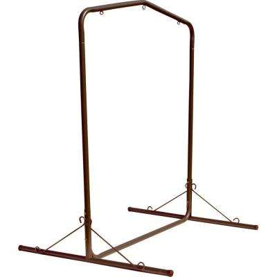 5.5 ft. Wide Bronze Textured Large Steel Swing Stand