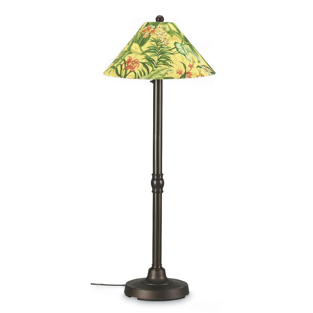Patio Living Concepts San Juan 60 in. Outdoor Bronze Floor Lamp with Soleil Shade