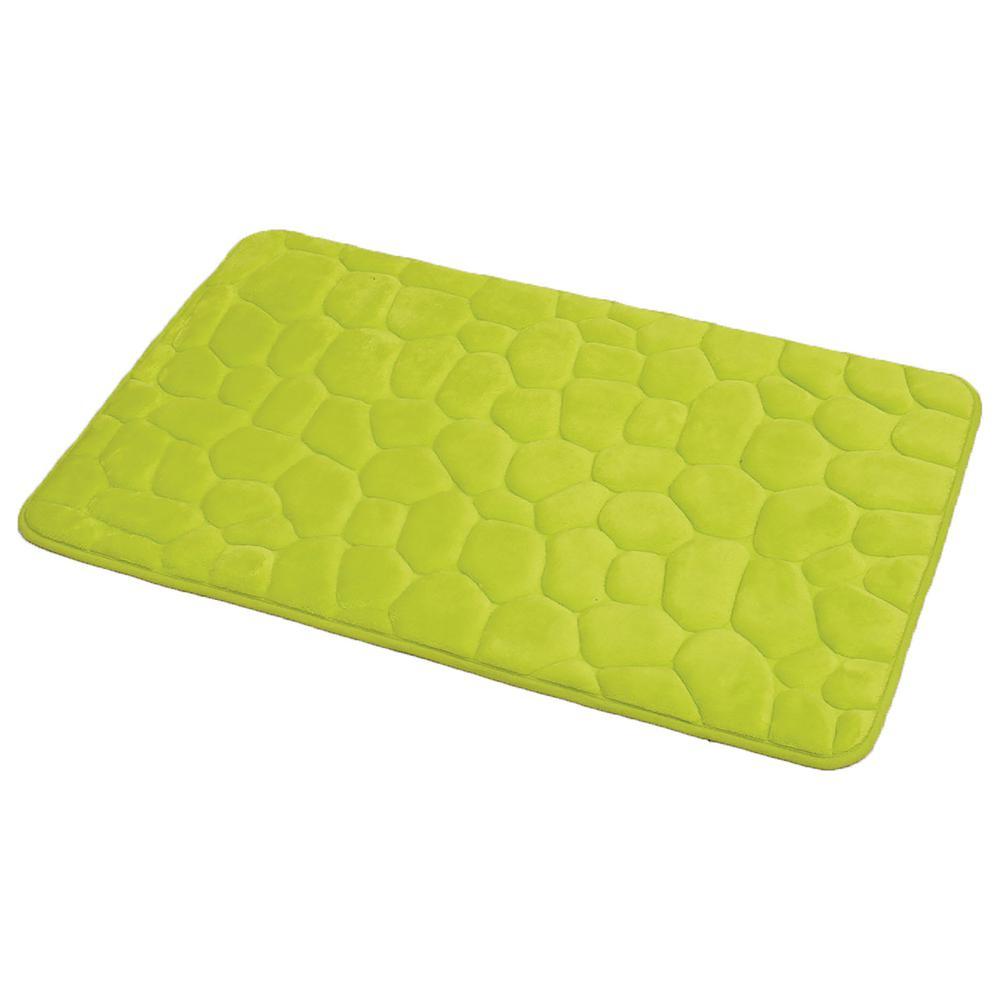 Unbranded 3D Cobble Stone Shaped Memory Foam Bath Mat Microfiber