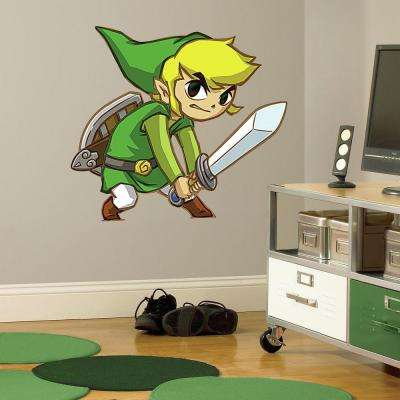 2.5 in. W x 21 in. H Zelda Spirit Tracks 5-Piece Peel and Stick Giant Wall Decal
