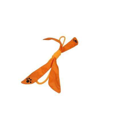 Extreme Bow Squeak Dog Rope Toy in Orange