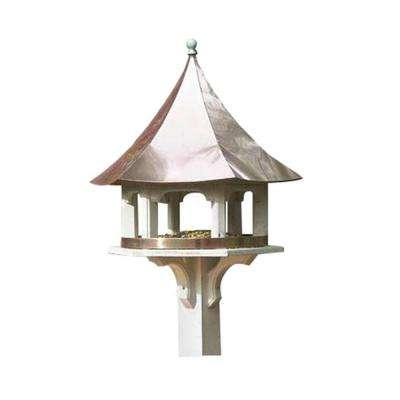Lazy Hill Farm Designs Carousel Bird Feeder with Blue Verde Copper Roof