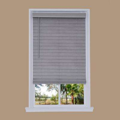 Cut-to-Width Steel Gray Cordless 2.5 in. Distressed Faux Wood Blind - 72 in. W x 72 in. L