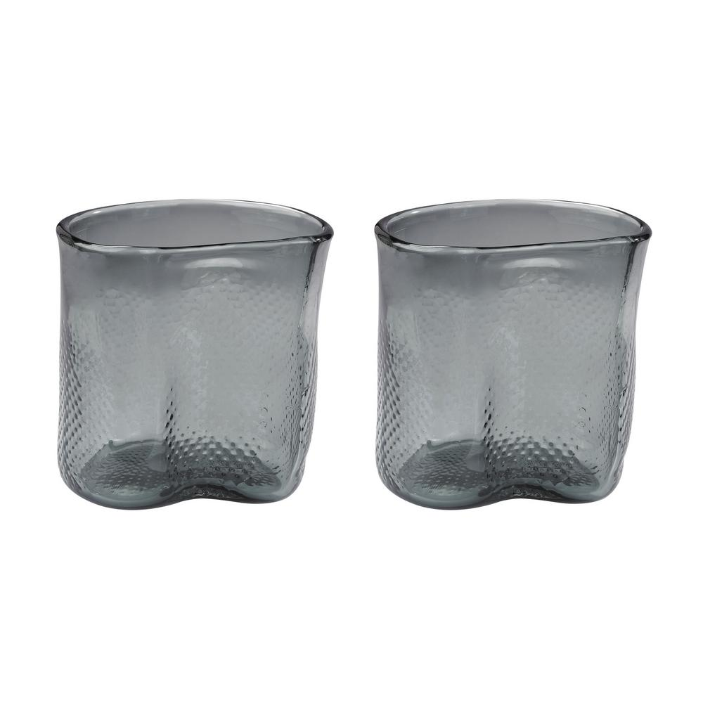 Titan lighting fish net 8 in glass decorative vases in gray set glass decorative vases in gray set of 2 tn 892214 the home depot floridaeventfo Image collections