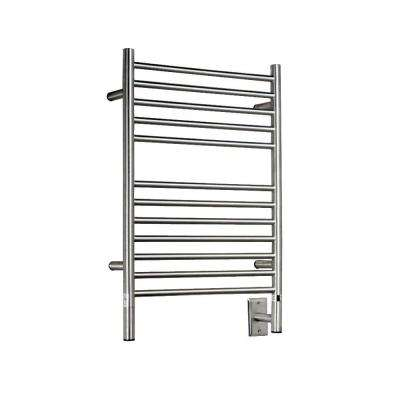 Jeeves E-Straight 20.5 in. W x 31 in. H 12-Bar Electric Towel Warmer in Brushed Stainless Steel