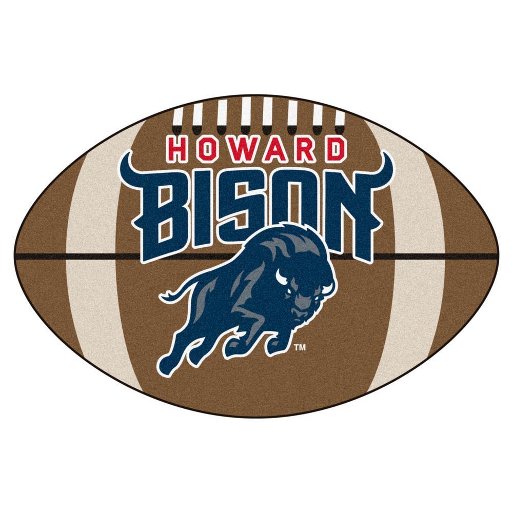 NCAA Howard University 20.5 in. 32.5 in. Football Mat Area Rug
