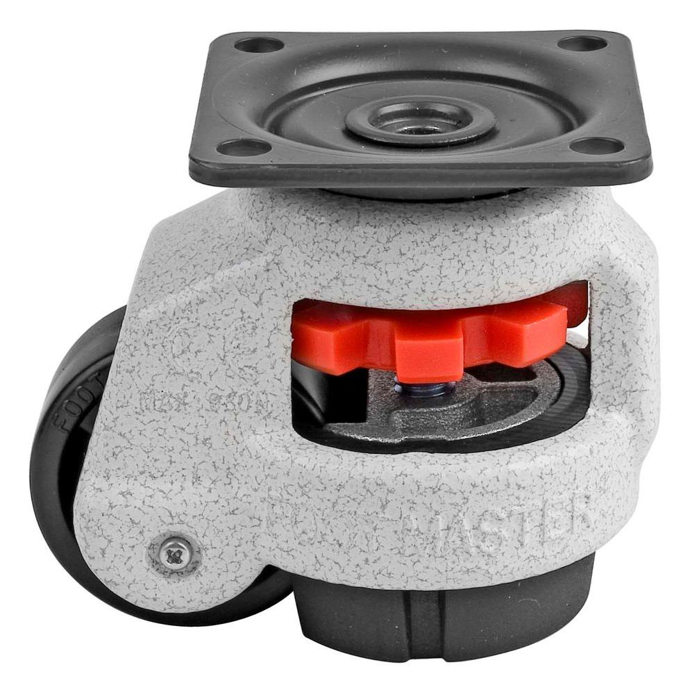 1-5/8 in. Nylon Wheel Top Plate Leveling Caster with Load Rating