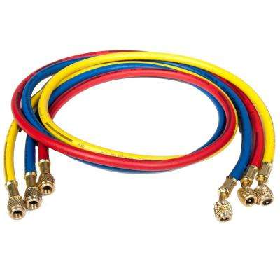 6 ft. Long PolarShield Hoses with Standard 1/4 in. Fittings, for Use with all Refrigerants (Set of 3)