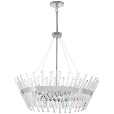 Echo Radiance 10-Light Chrome Pendant with Clear Glass