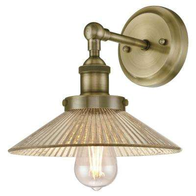 Bonnie 1-Light Antique Brass Wall Mount Sconce