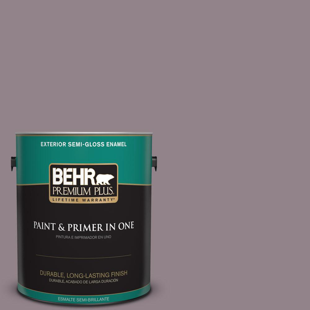 1-gal. #N110-4 Gothic Purple Semi-Gloss Enamel Exterior Paint