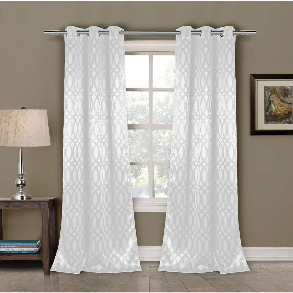 Duck River Semi Opaque Tayla 84 In L Room Darkening Grommet Panel White 2 Pack 11604d 12 The Home Depot