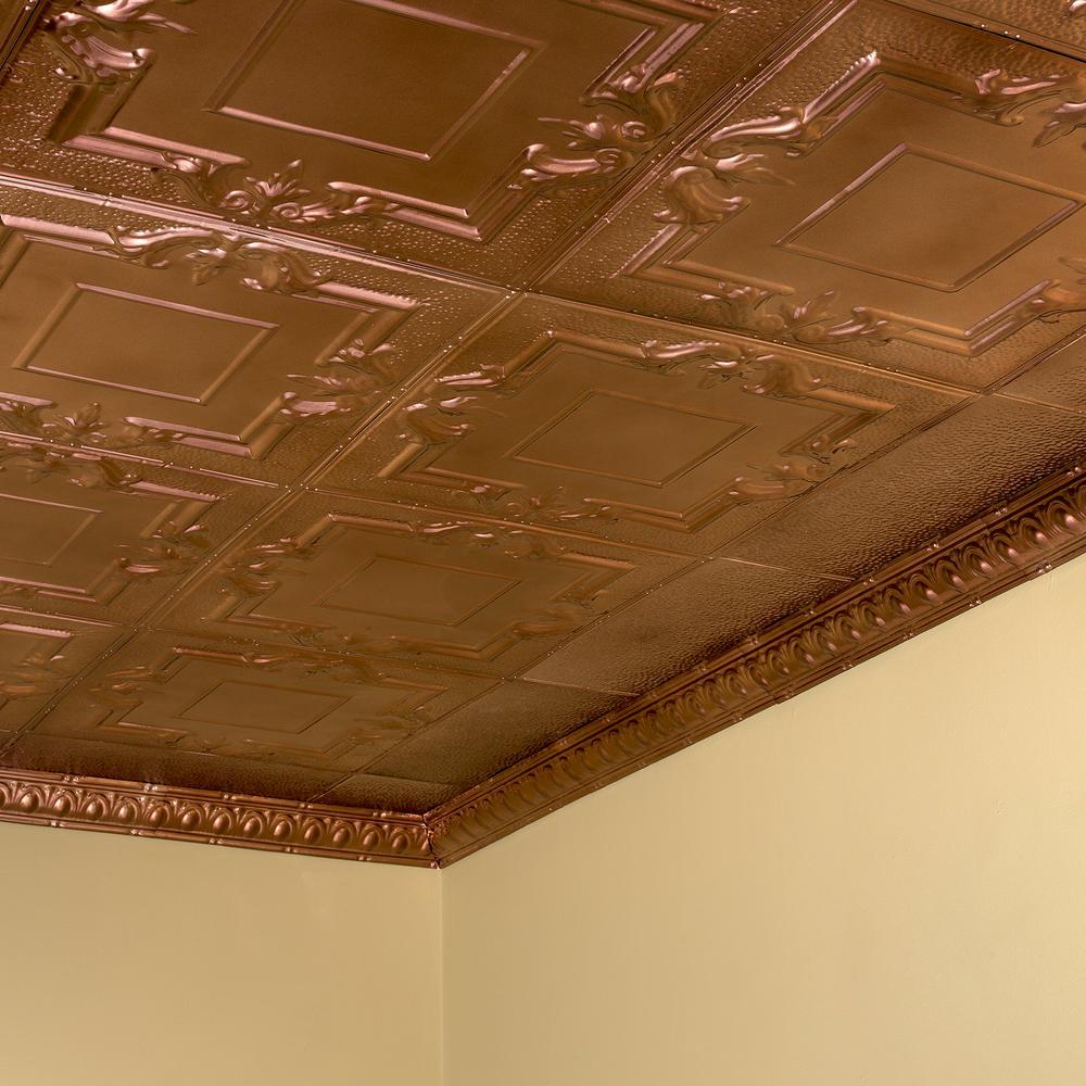2 X 2 Bronze Surface Mount Tiles Ceiling Tiles The Home Depot