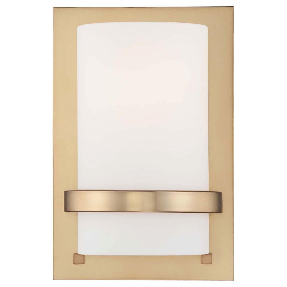 1-Light Honey Gold Wall Sconce
