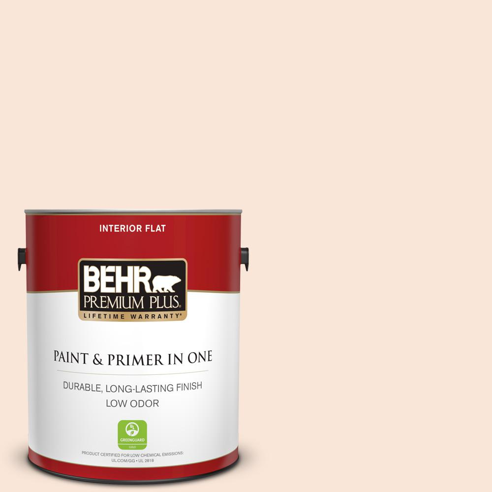 1 gal. #260A-1 Feather White Flat Low Odor Interior Paint and