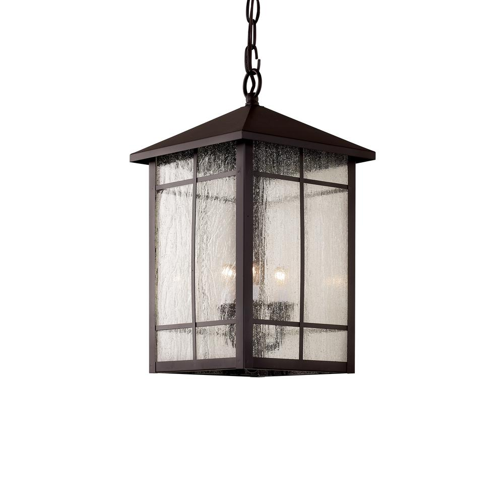 Bel Air Lighting Capistrano 3-Light Rubbed Oil Bronze Outdoor Hanging Lantern