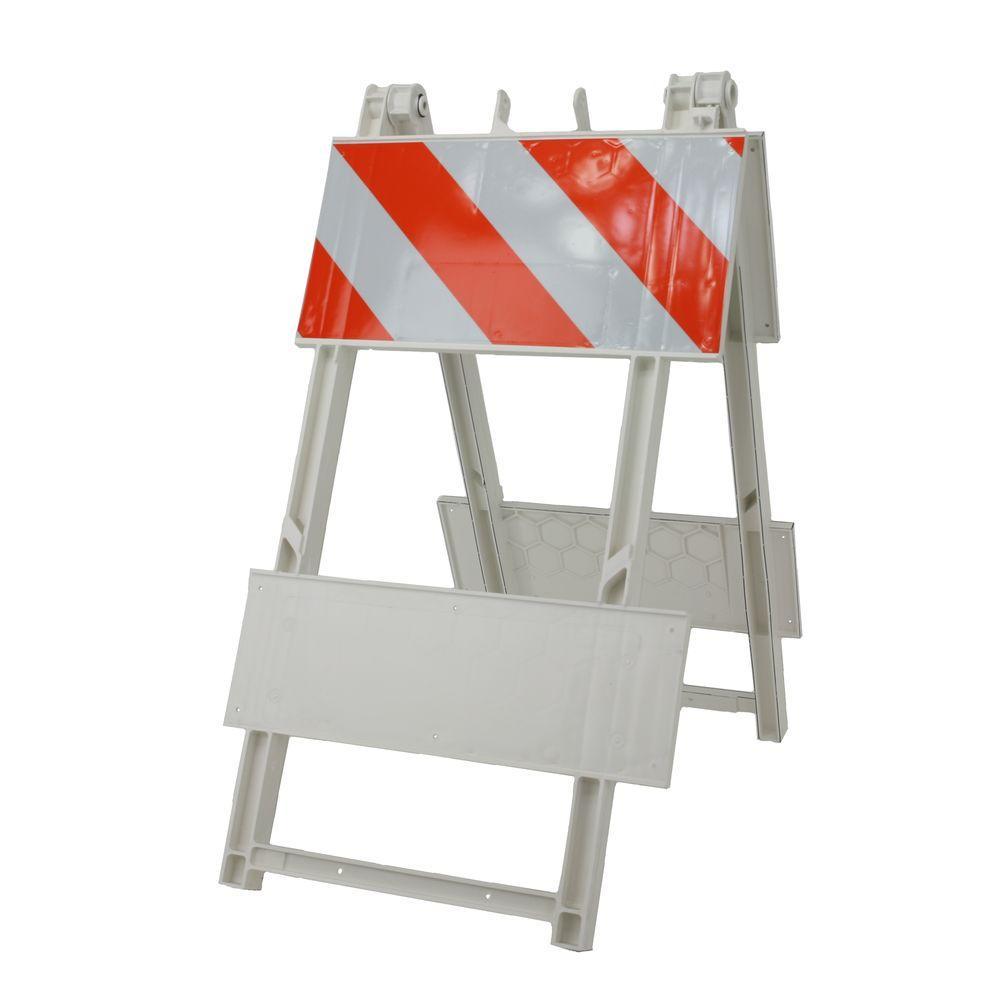 12 in. EG Sheeting Plastic Type I Folding Barricade