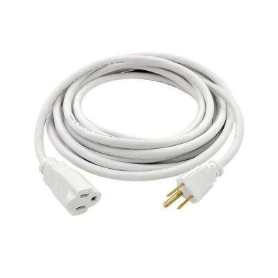 15 ft. 16/3 Indoor/Outdoor Extension Cord, White