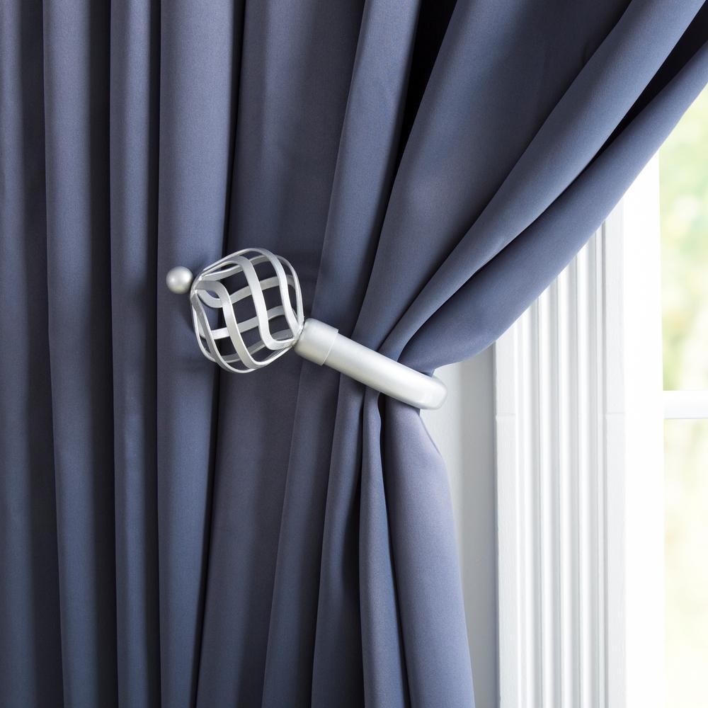 Silver Curtain Holdbacks Tie Backs Curtain Rods Hardware