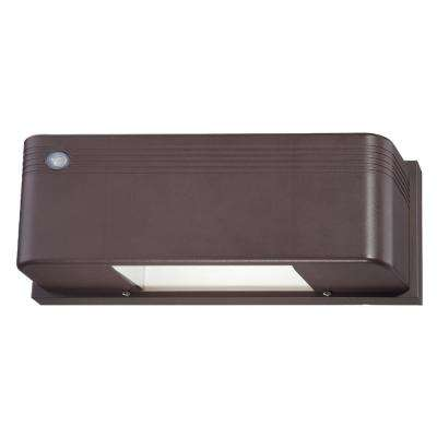 1 -Light Bronze Outdoor Integrated LED Wall Mount Sconce
