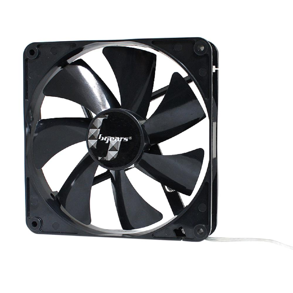 Bgears b-PWM 140-Blue Ball Bearing Black Fan with High Speed Extreme Airflow
