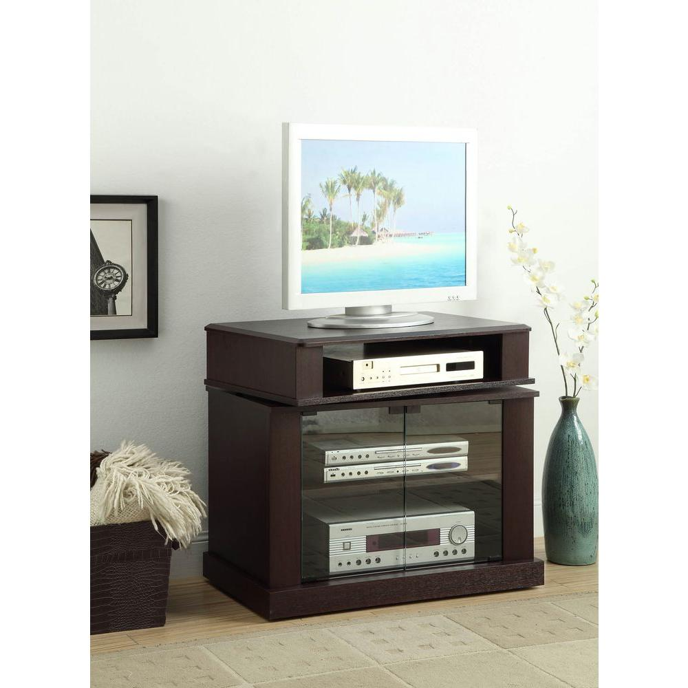 Cherry Swivel Top Entertainment Center