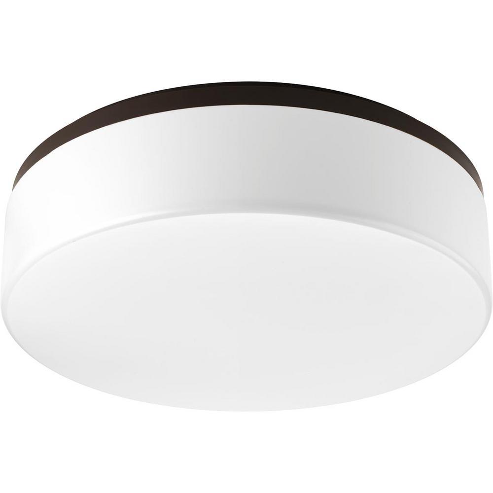 Maier LED 18 in. 28.5-Watt Antique Bronze Integrated LED Flush Mount