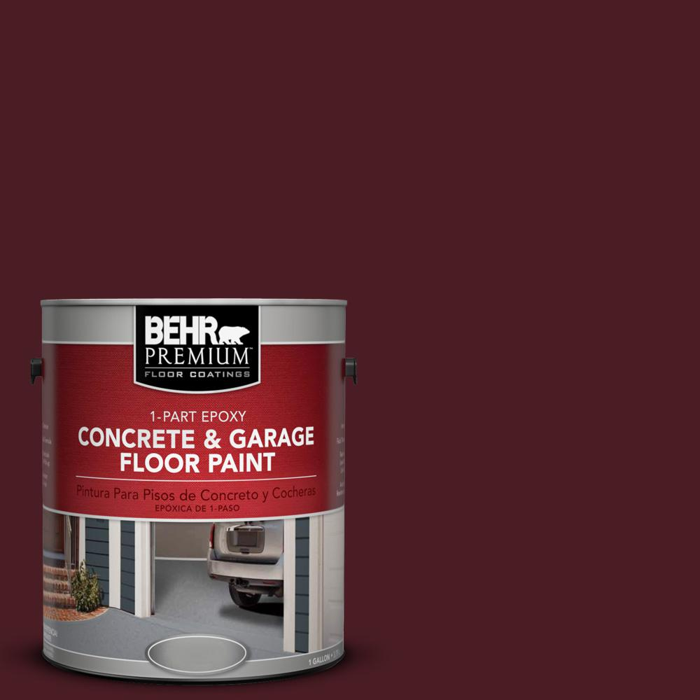 BEHR Premium 1 Gal. #SC-106 Bordeaux 1-Part Epoxy Concrete