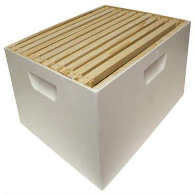 10 in. H x 16 in. W Assembled Deep Hive Box with 10 Frames and Foundation