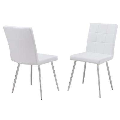 Jaxon White Leatherette Upholstered Dining Chair (Set of 2)