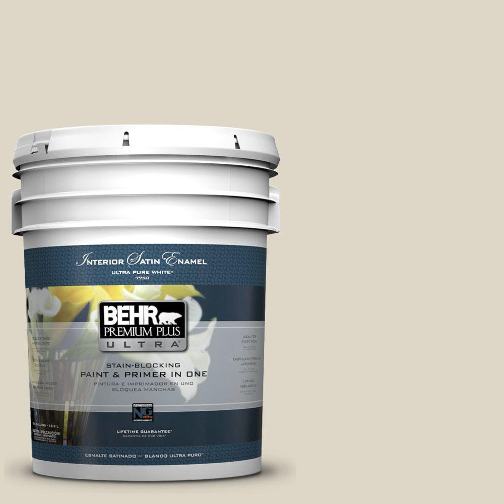 BEHR Premium Plus Ultra 5-gal. #PPU8-15 Stonewashed Satin Enamel Interior Paint