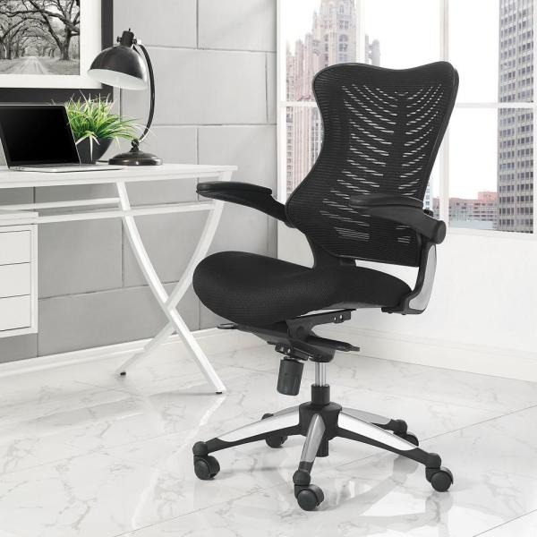 MODWAY Charge Office Chair in Black EEI-2285-BLK