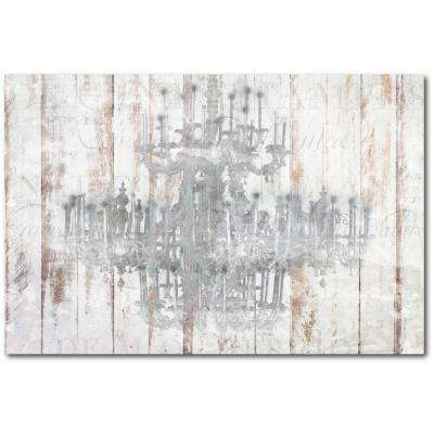 "24 in. x 36 in. ""Barnwood Chandelier"" Gallery Wrapped Canvas Printed Wall Art"