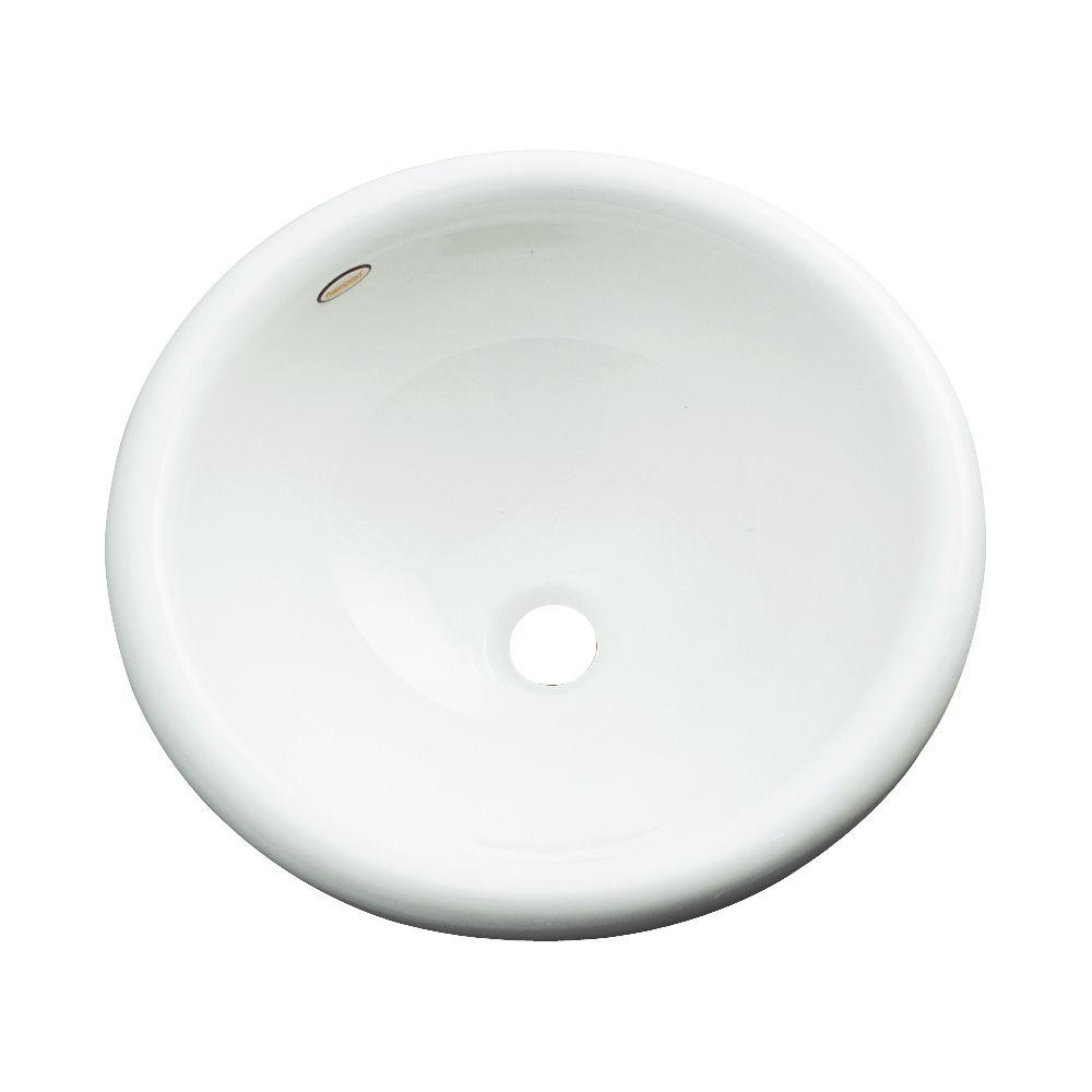 Thermocast Eudora Drop-In Bathroom Sink in White