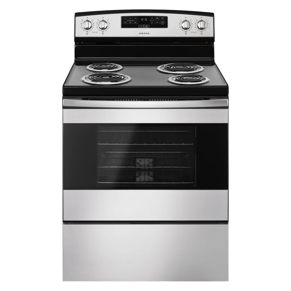 Electric Range In Stainless Steel
