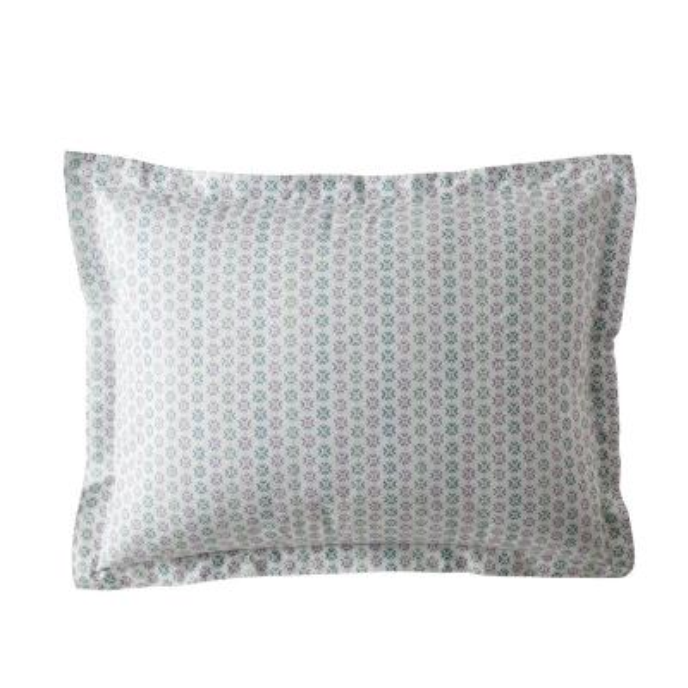 Dana Geo Garment Wash 200-Thread Count Organic Cotton Percale King Sham