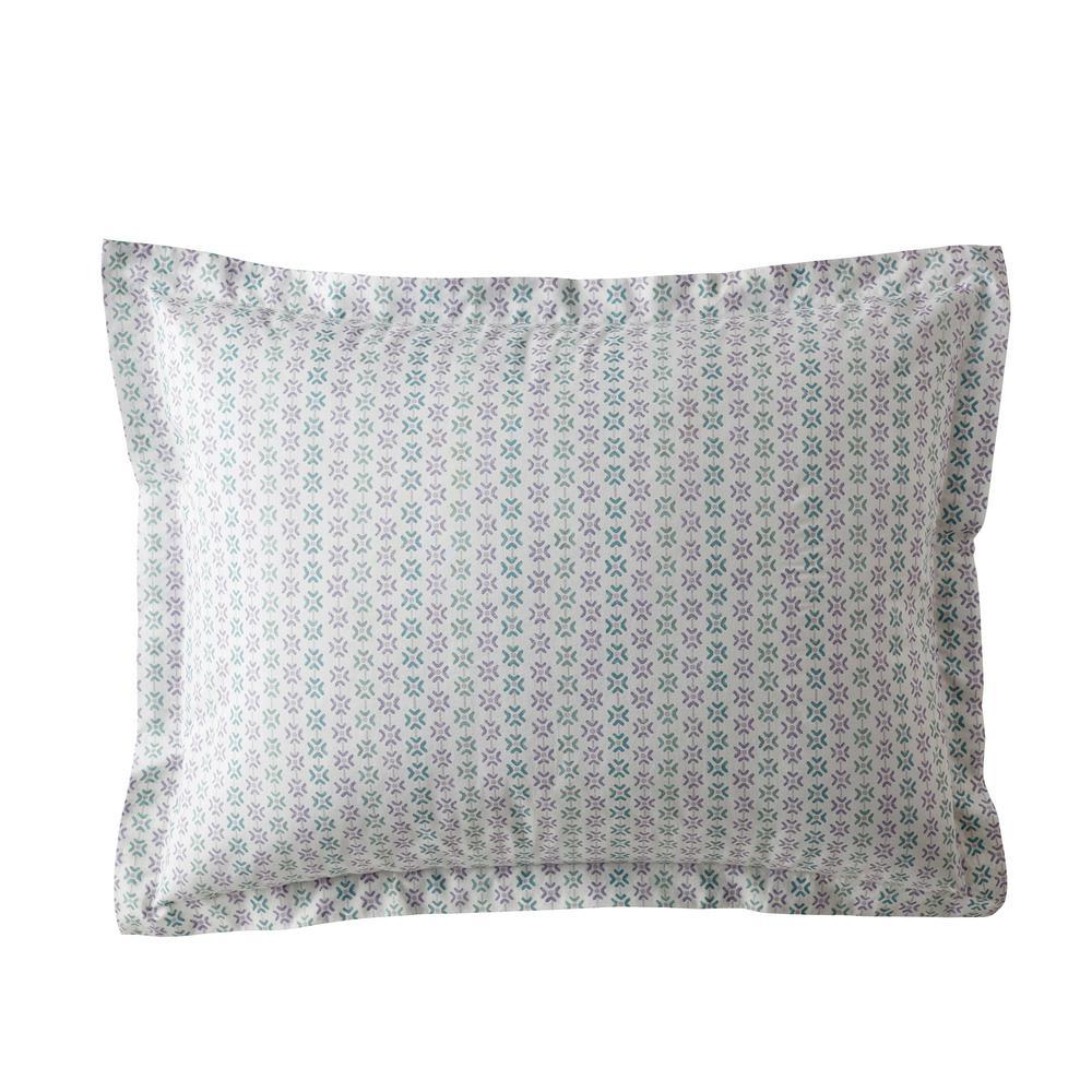 Dana Geo Garment Wash 200-Thread Count Organic Cotton Percale Standard Sham