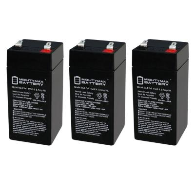 4-Volt 4.5 Ah SLA (Sealed Lead Acid) AGM Type Replacement Battery (3-Pack)