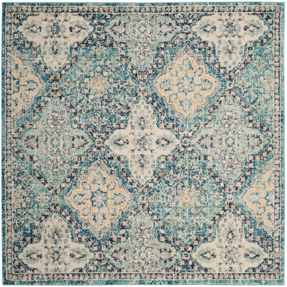 evoke light blueivory 5 ft 1 in x 5 ft 1 - Square Area Rugs