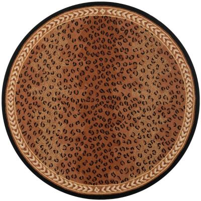 Chelsea Black/Brown 6 ft. x 6 ft. Round Area Rug
