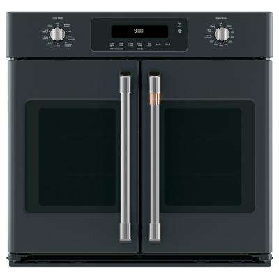 30 in. Single Electric Wall Oven with Convection Steam-Cleaning in Matte Black, Fingerprint Resistant